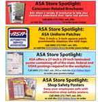 Horizontal ads for the Automotive Service Association Online Store.